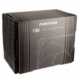 Phanteks T30 PWM 120mm Triple Fan Pack - Black Packaging