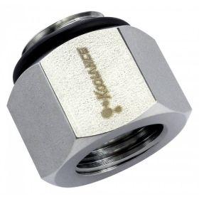 Koolance Threading Adapter, G 1/4 Male to NPT 1/4 Female - Stainless Steel