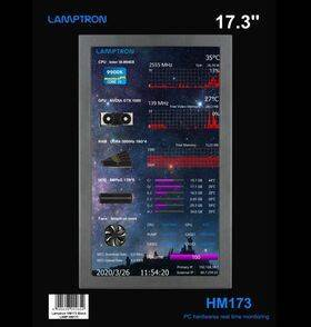 "Lamptron HM173 Portable Display for AIDA64 - 17.3"" IPS, HDMI, Ultra-thin narrow edge/bezel"