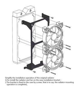 BarrowCH 240mm Radiator Installation Module For Rhopilema / Mobula Open Case